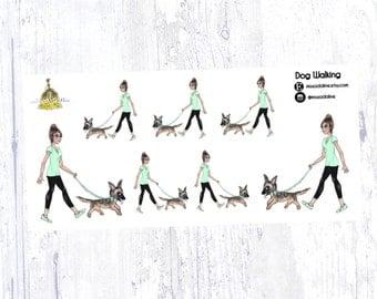 Dog Walking Sticker Set