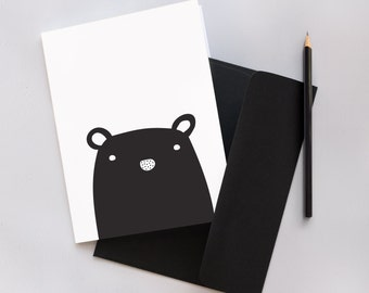 Monochrome Mouse Greeting Card