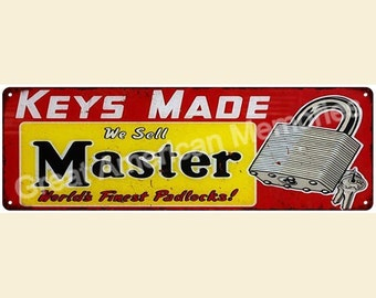 Master Keys Made Vintage Look Reproduction 6x18 Metal 6180115