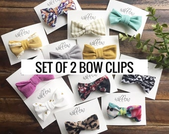 Set of 2 Bow Clips. Bow Hair Clip. Hair Clip. Bow Clip. Kids Accessories. Toddler Accessories
