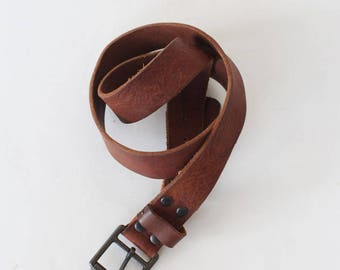 Men's Vintage Size 36 Brown Leather Belt