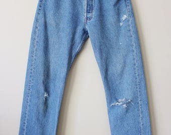 Vintage 90's Perfectly Faded and Distressed Levi's Jeans 31 x 30