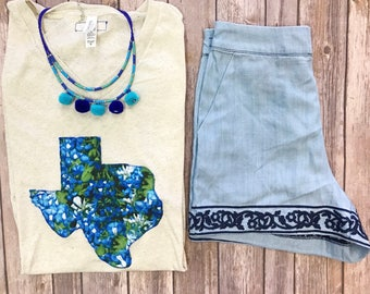 Texas Bluebonnets shirt - Sweet Texas Treasures - bluebonnet texan tee, floral texas tee, texas girl, Texan flower, texas state flower