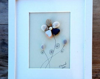 Pebble art flowers, Flowers unique gift, Birthday flowers, Couple gift, Anniversary flowers, home decor, home living, holidays flowers