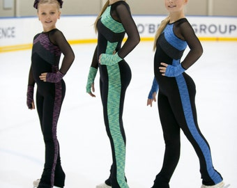 Figure skating training cat suit