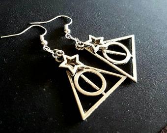 Deathly hallows earrings, Harry potter jewellery, Harry Potter Jewelry