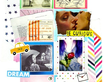 Little Moments Collage | Art | Illustration | Found Objects | Mixed Media