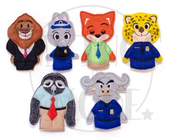 Zootopia Inspired Puppets