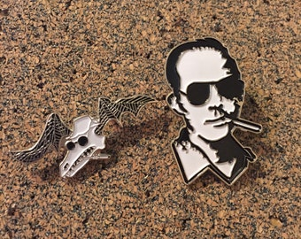 Hunter S Thompson (Fear And Loathing in Las Vegas) Hat Pin Set (2)
