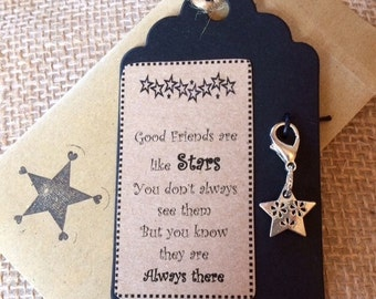 Clip on Star Charm - Friend Gift