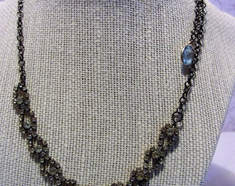 Wilcie Collection Upcycled Vintage Rhinestone Adjustable Length Necklace