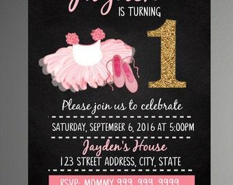 Twist And Twirl Birthday Invite, Tutu invitation, Tutu Party,  Birthday Party | Tutu Ballerina Birthday Invitation- Instant Download