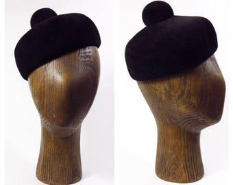 1930-40's Abraham & Straus Pill Box Hat