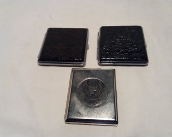 Vintage Cigarette Case - Set of Three