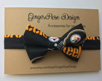 Pittsburgh Steelers Bow Tie; Football Bow Tie; NFL Bow Tie; Boy Bow Tie; Toddler Bow Tie; Baby Bow Tie; Adjustable Bow Tie