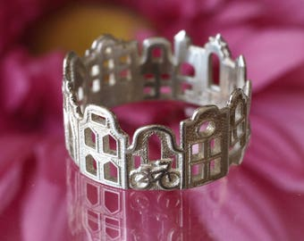 Amsterdam Cityscape - Skyline Statement Ring - Mothers Day Gift - Gift Ideas - Mother Gift - Shekhtwoman
