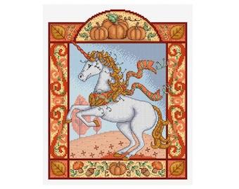 Autumn Unicorn - Durene J Cross Stitch - DJXS 2218