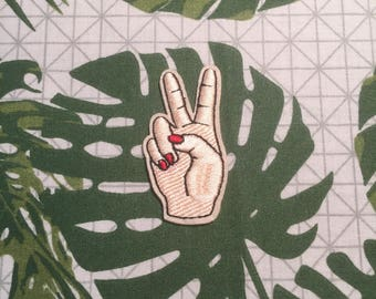 Peace Hand Patch