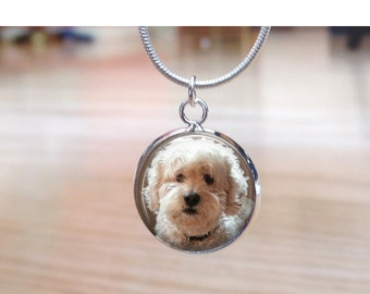 Dog Charm Necklace  - Custom Dog Photo Charm- Custom Gift for mother grandmother daughter