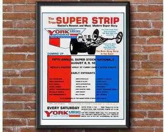 Super Strip – 1969 York US 30 Dragway Event Poster
