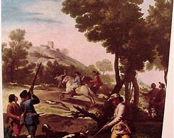 Hunting Scene by Francisca de Goya Art Reproduction Print