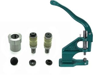 Rivet Press Green Machine and KAM Snaps Size 16 20 Press Stud Die Tool Set