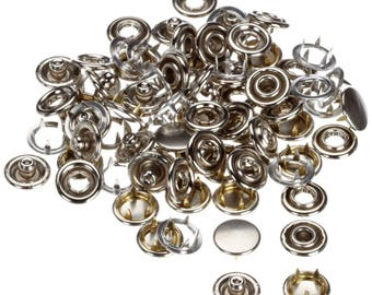 Jersey Caps Snap Fasteners Poppers Studs Press Studs in 9.5mm Nickle Free UK