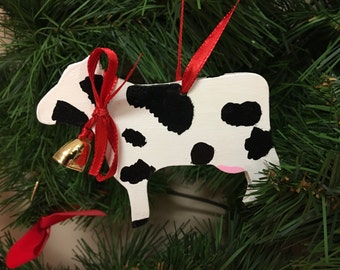 Wooden Cow Ornament