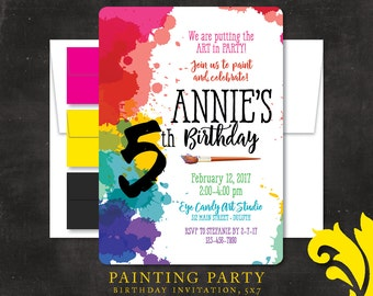 PAINTING PARTY . birthday invitation