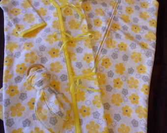 NEW! Sleepsack and gown sets, with matching toys! All made to order in a wide range of prints/colors