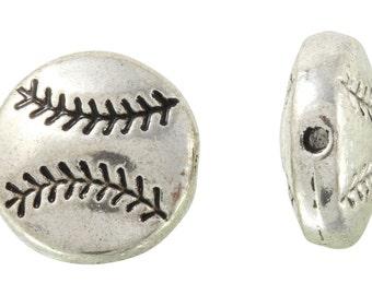 16 Pcs 10 mm Zinc Alloy Baseball Beads (PUT4001123)