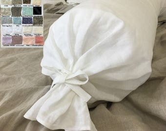 Linen Bolster Pillow Case, Multiple Color Choices, Give your bed a new look!