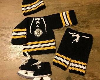 Newborn crochet hockey set