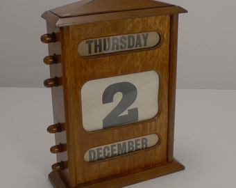 "Handsome Large (11 1/2"") Desktop Perpetual Calendar c.1900"