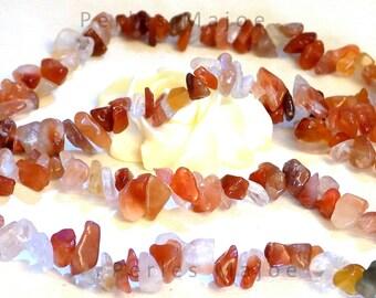 1 x fil chips agate rouge naturelles environ 320 pcs