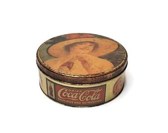 Metal cookies box , Coca Cola , Vintage , French decoration