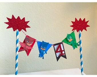 Pj Masks Cake Topper, Pj Masks Birthday, Pj Masks Cake Smash, Pj Masks Decorations