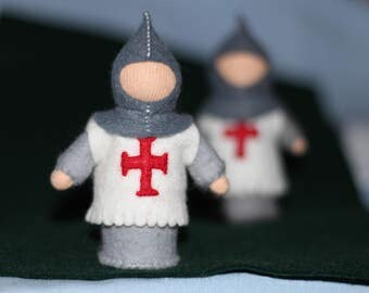 Knight // Guard Doll // Gift From Tooth Fairy // Pocket Doll // Miniature Doll // Waldorf toy // Table Nature //