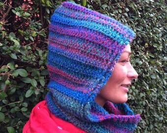 Crochet Hooded Cowl- Crochet Pattern