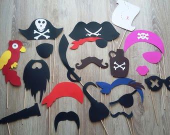 "Accessories photobooth x 20 ""pirate theme"""