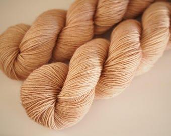 BFL sock hand dyed yarn Dried Twig