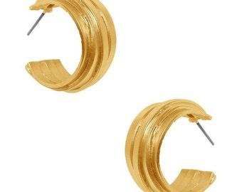The Angelique Hoop, Karine Sultan, Hoop earrings, Gold Earrings, Silver Earrings, Parisian Earrings, Fashion Accessories,Gold Hoop Earrings