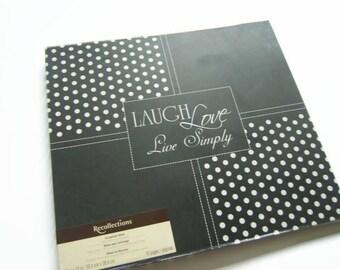 Blank Scrapbook Album - Family Photo Scrapbook Album - Family Photo Album - Wedding Scrapbook Album - Black Scrapbook Album - Family Album
