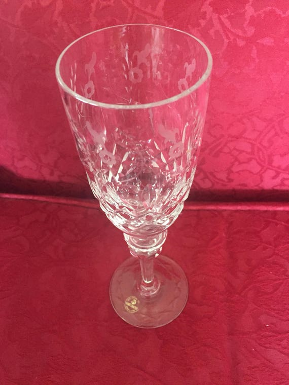 FREE SHIPPING-Rogaska-Gallia-Champagne Flutes