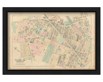 0077-Map of Part of Dorchester - 1874 Ward 16 Plate L.