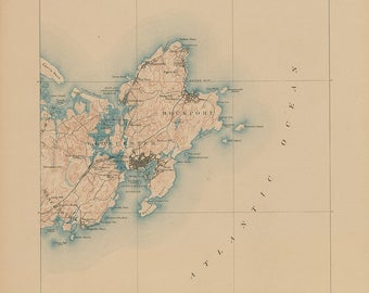 0426-Gloucester and Rockport Harbors 1886 -  The U. S. Geological Survey