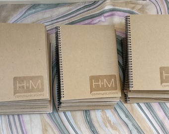 12 Custom made/personalized letterpress drawing pads | notebooks (set of 12 pads)