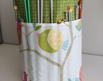 Large Knitting Project Bag Handmade