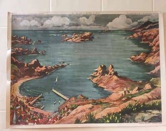 1950's French school poster (double sided) #1
