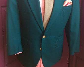 Forest green sports coat